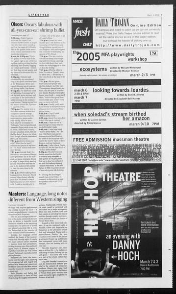 Daily Trojan, Vol. 154, No. 32, March 01, 2005