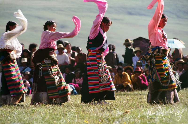 Women dance in ....wearing traditional pangden