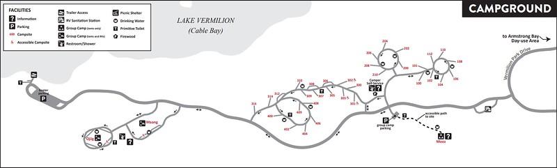 Lake Vermilion-Soudan Underground Mine State Park (Campground Map)