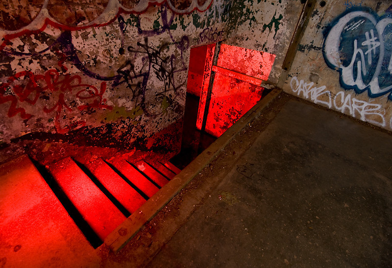 Stairway to Perdition  Hawk Hill.  Lit with flash and red flashlight.