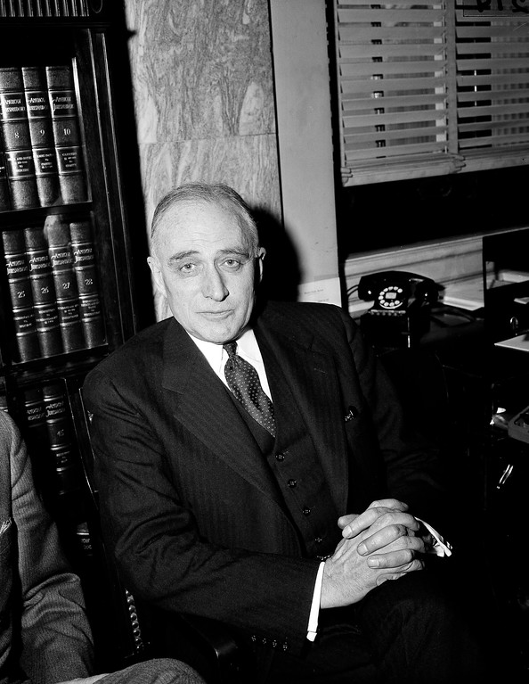 . Judge John Marshall Harlan II, poses for a photo in Washington, D.C., Feb. 23, 1955. Judge Harlan is President Eisenhower\'s nominee for Associate Justice of the Supreme Court. (AP Photo/Charles Gorry)