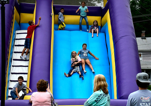 9/8/2018 Mike Orazzi | Staff The slide during Dozynki at St. Stanislaus Church in Bristol Saturday.