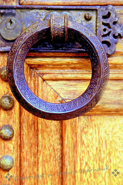 The Old Church Door ~ Door detail on an old Catholic Church in Los Angeles, CA