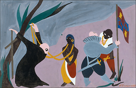 "Jacob Lawrence, ""The Life of Toussaint L'Ouverture No. 1"" (1938)"
