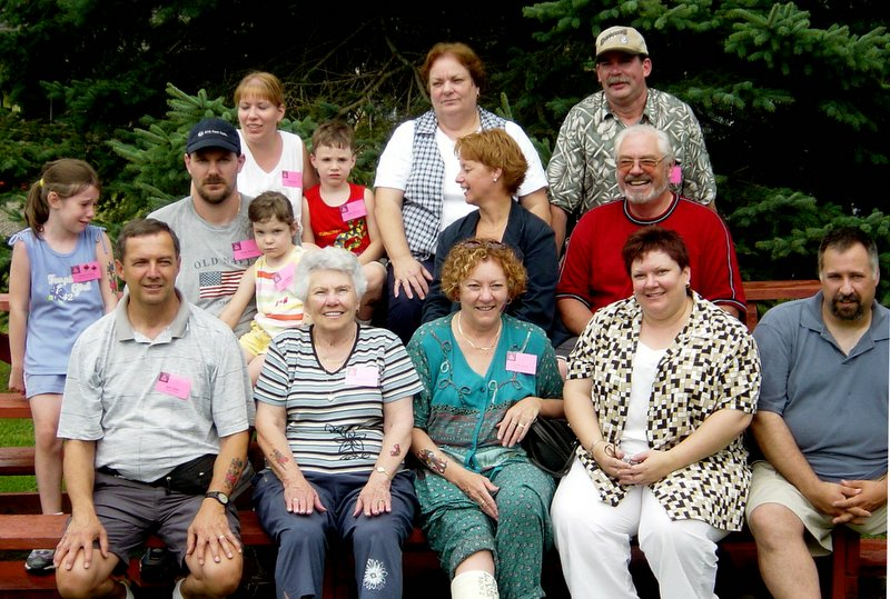 Alvine (Ouellette) Soucy and her family.  Alvine was the eldest of the family.