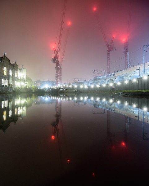 Foggy night on the Regent's Canal