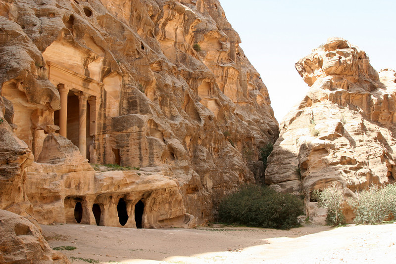 Little Petra (Siq Al-Barid) - Siq Al-Baird is a smaller valley near Petra which is thought to have served as an agricultural centre, trading suburb and resupply post for camel caravans visiting Petra.