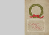Holly Jolly Wreath (Front)<br /> 5x7 Flat Card