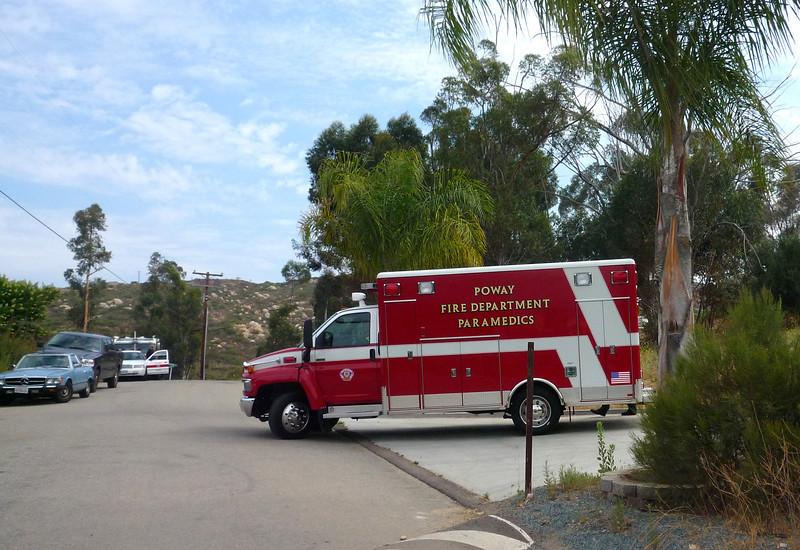 Poway Fire Dept Paramedics Sycamore Cyn