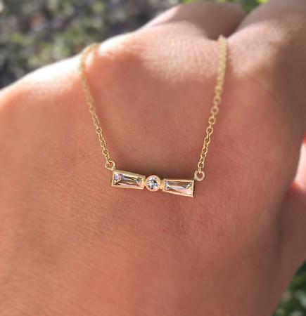 .30ctw French Cut and Single Cut Diamond Bow Pendant
