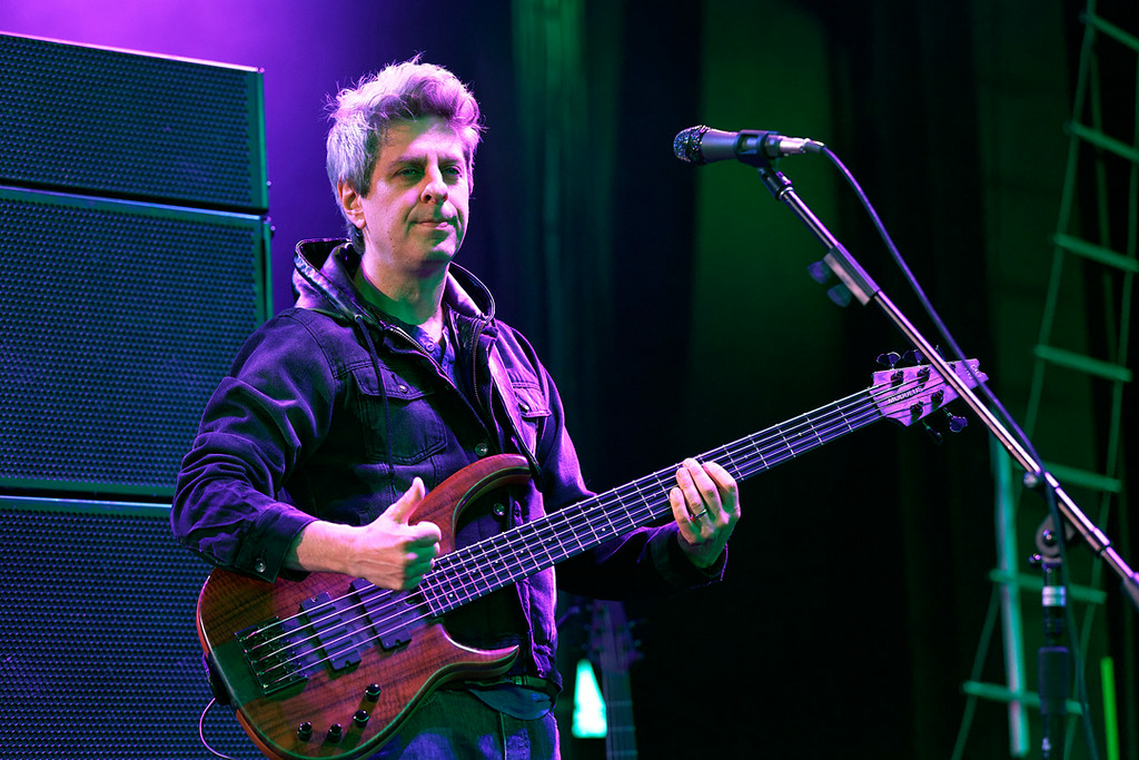 . Mike Gordon of Phish performs at DTE Energy Music Theatre in  Independence Township on 7-16-14. Photo by Ken Settle