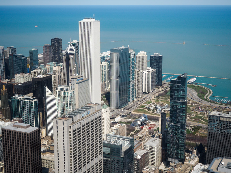 View of Chicago from Willis Tower Skydeck