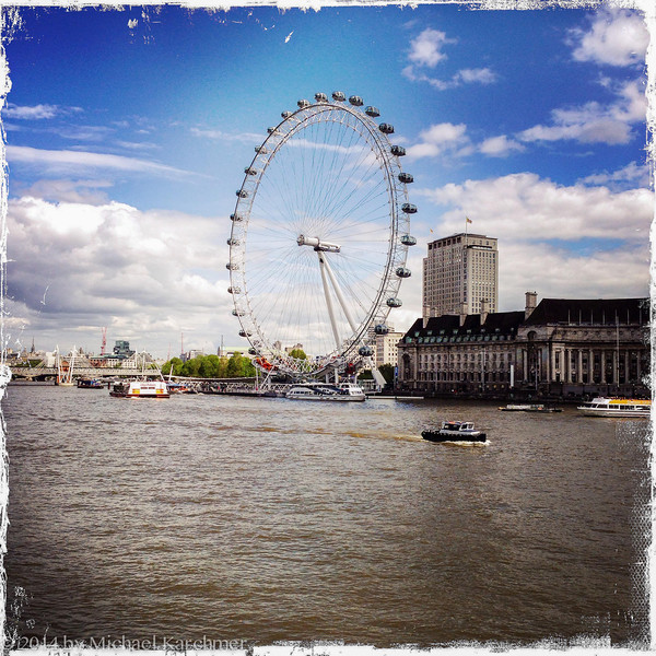 The Eye from a Thames bridge (May, 2014)