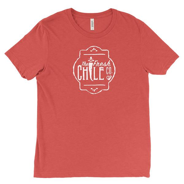 Fresh Chile Company Logo - Vintage Farmers Market T-Shirt - Red.jpg