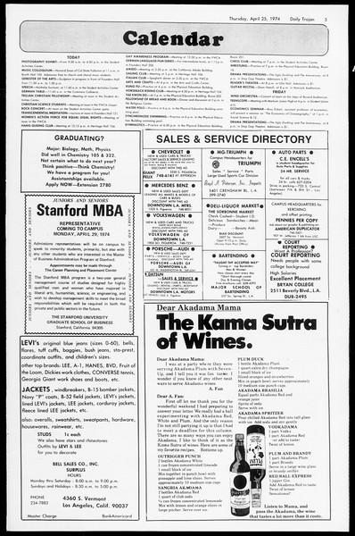 Daily Trojan, Vol. 66, No. 113, April 25, 1974