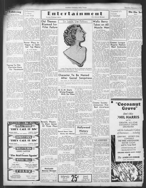 Daily Trojan, Vol. 24, No. 61, December 08, 1932