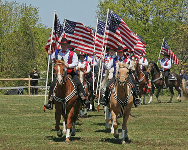 The Islip Horseman's Association Mounted Drill Team.