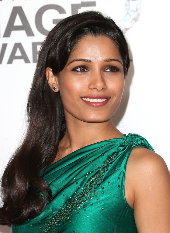 . LOS ANGELES, CA - FEBRUARY 01:  Actress Freida Pinto attends the 44th NAACP Image Awards at The Shrine Auditorium on February 1, 2013 in Los Angeles, California.  (Photo by Frederick M. Brown/Getty Images for NAACP Image Awards)