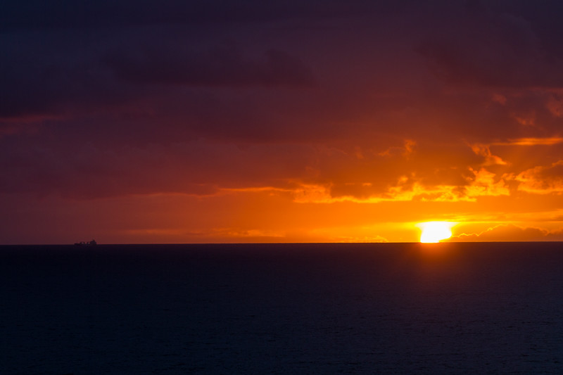 Sunset over the Pacific Ocean from California