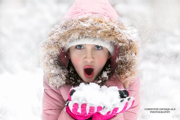 2018 Alanna, Aine, Stella & Avi in snow 05jan2018