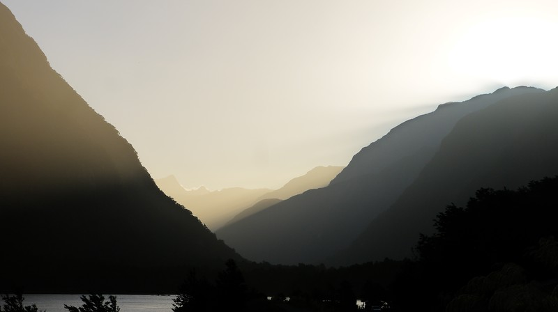 Sunset in Arthur Valley from Milford.jpg