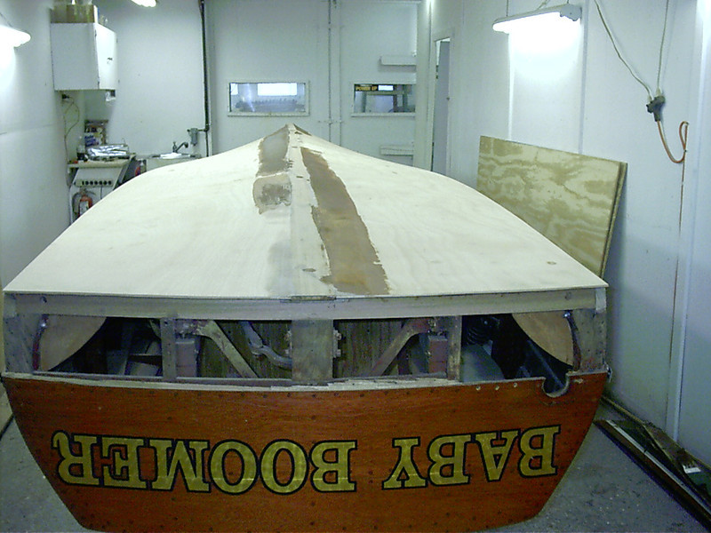 Rear view of sanded bottom.
