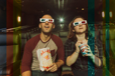 Alex + Chris // Movie Theatre Engagement