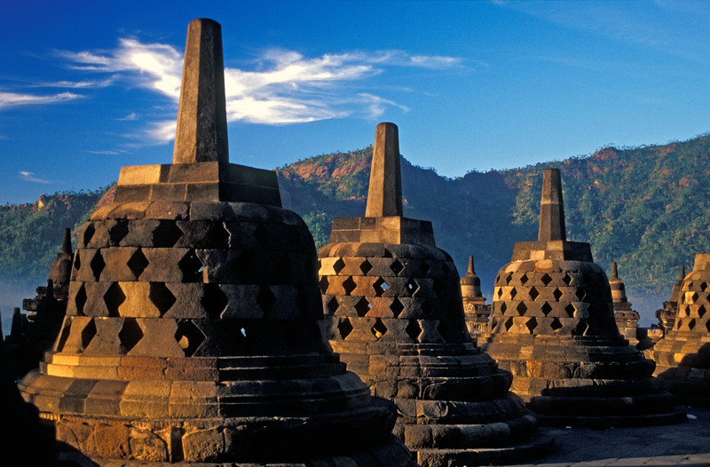 Stupas of Borobudur Temple, Indonesia
