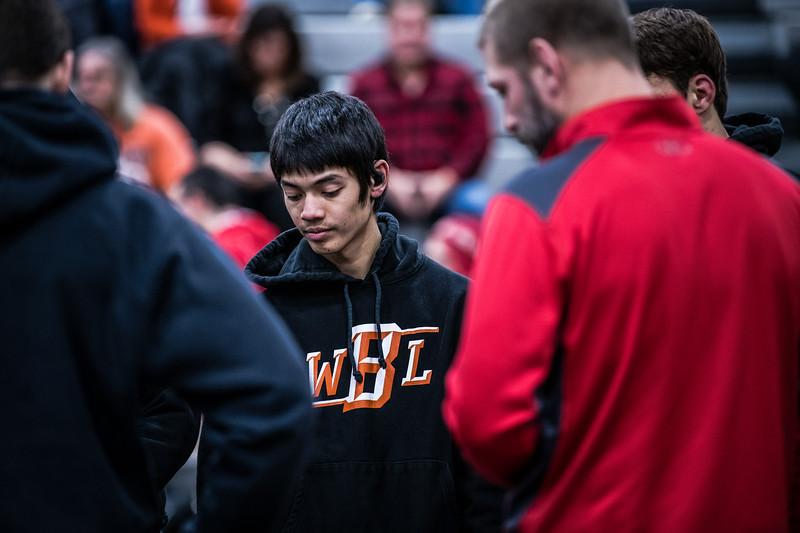WBL Varsity Wrestling -V- North 1-31-2020