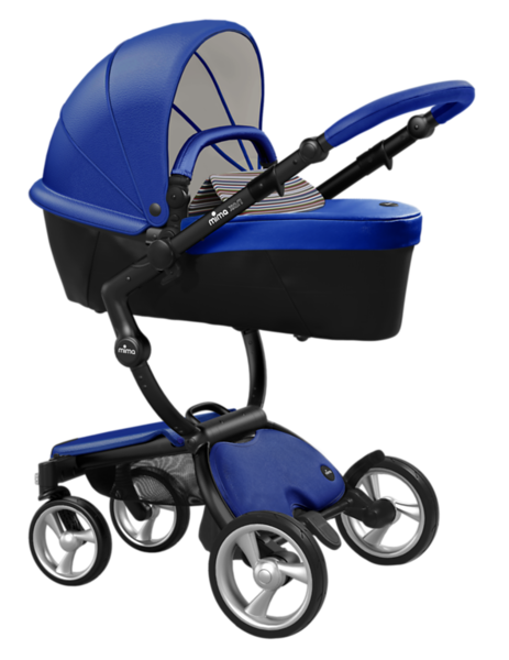 Mima_Xari_Product_Shot_Royal_Blue_Black_Chassis_Autumn_Stripes_Carrycot.png