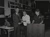 Mayor Hudnut at IPD Quarterly Awards, September 15, 1983, Img. 3, with Joseph McAtee