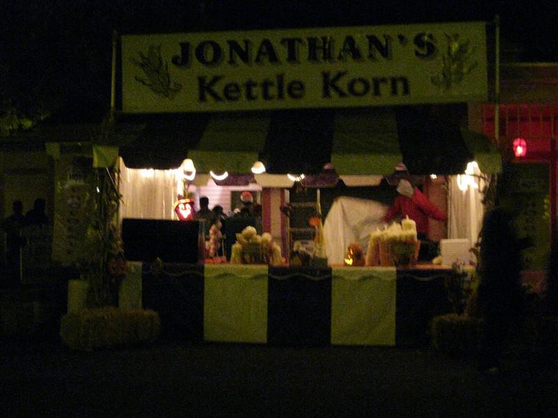 Kettle Korn concession.