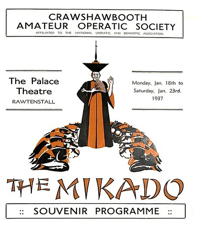 Crawshawbooth Amateur Operatic Society The Mikado 1937