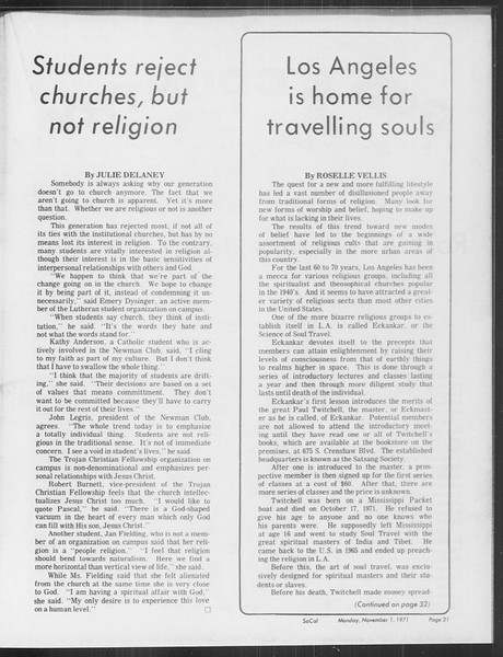 SoCal, Vol. 64, No. 28, November 01, 1971