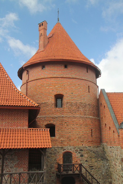 Defensive tower of Trakai Castle -Lithuania