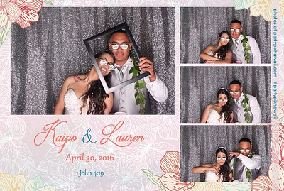 Lauren & Kaipo's Wedding (LED Open Air Photo Booth)