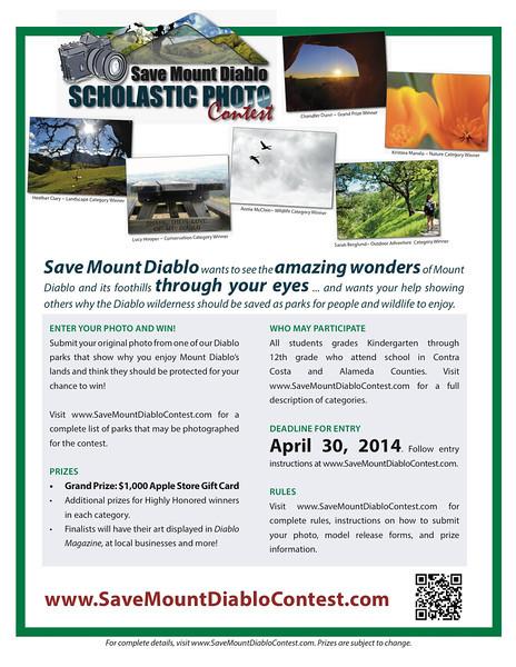 Save Mount Diablo Scholastic Photo Contest