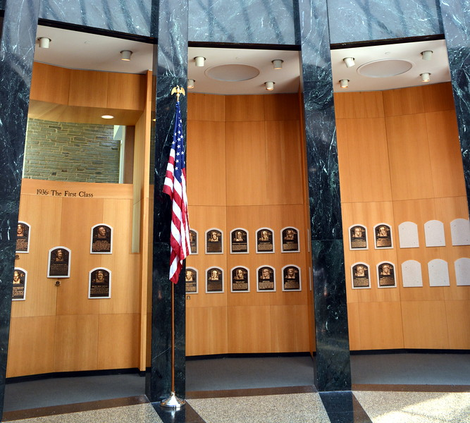 Hall of Fame Gallery Plaques at  the National Baseball Hall of Fame & Museum
