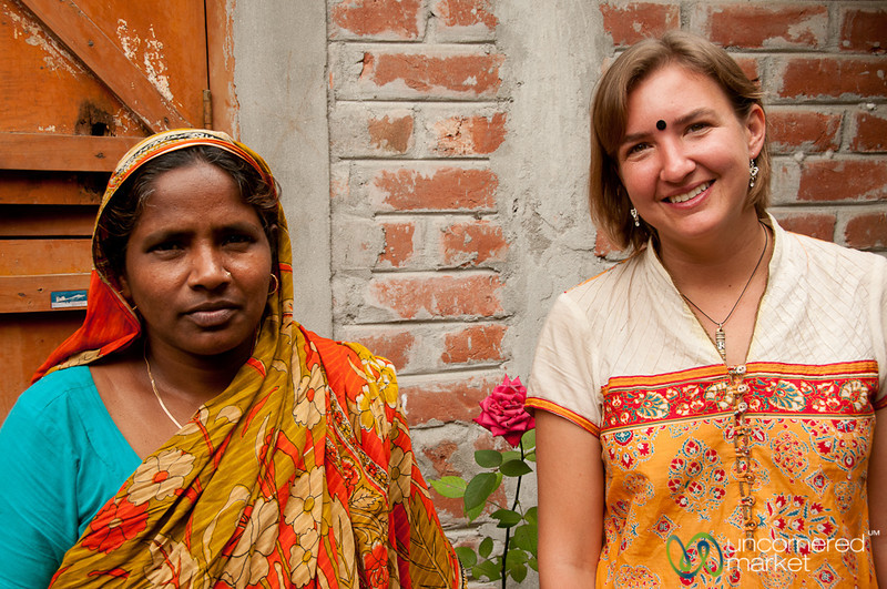 Audrey with our Homestay Host - Hatiandha, Bangladesh