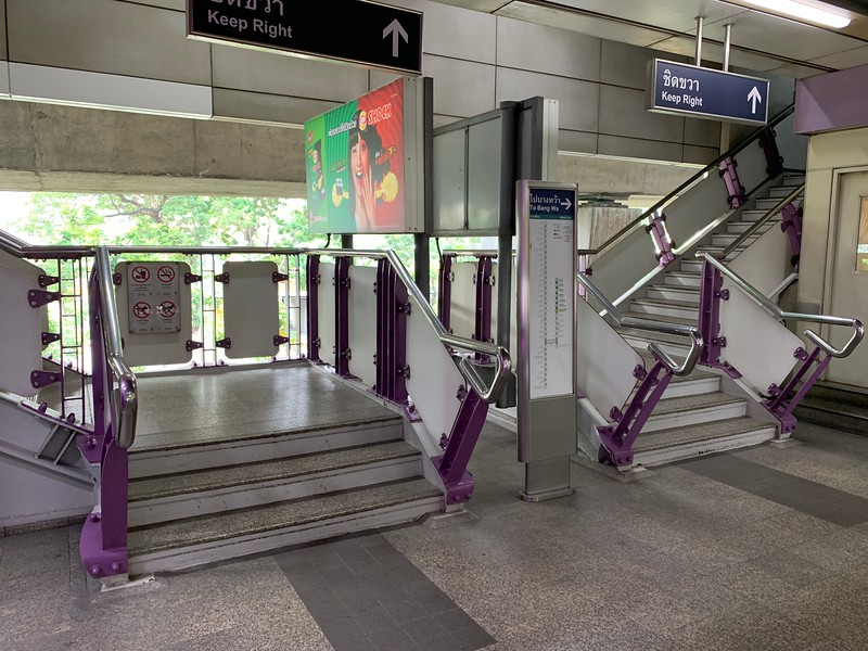 Stairs at BTS Station