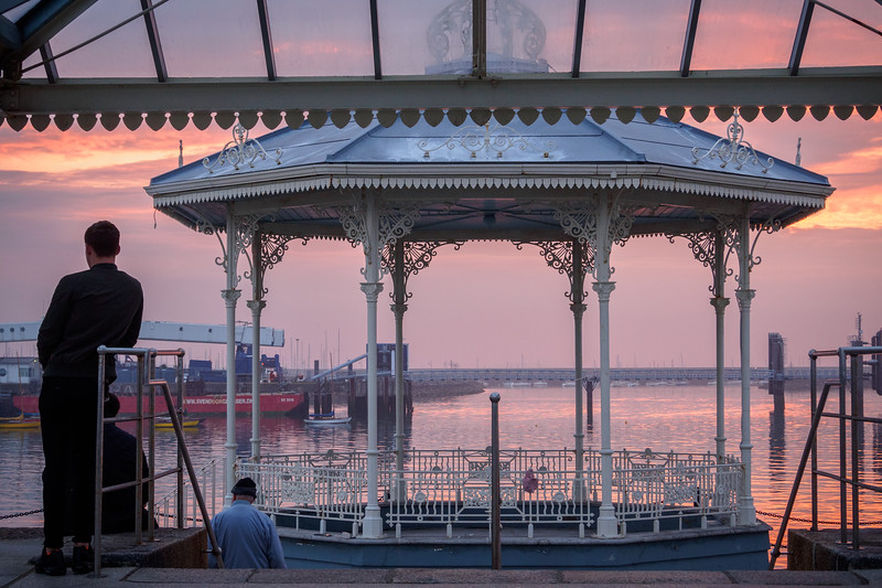East Pier bandstand and sun shelter