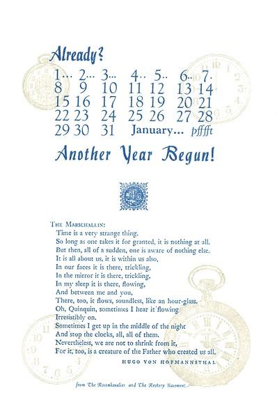 January, 1984, Rectory Basement Press