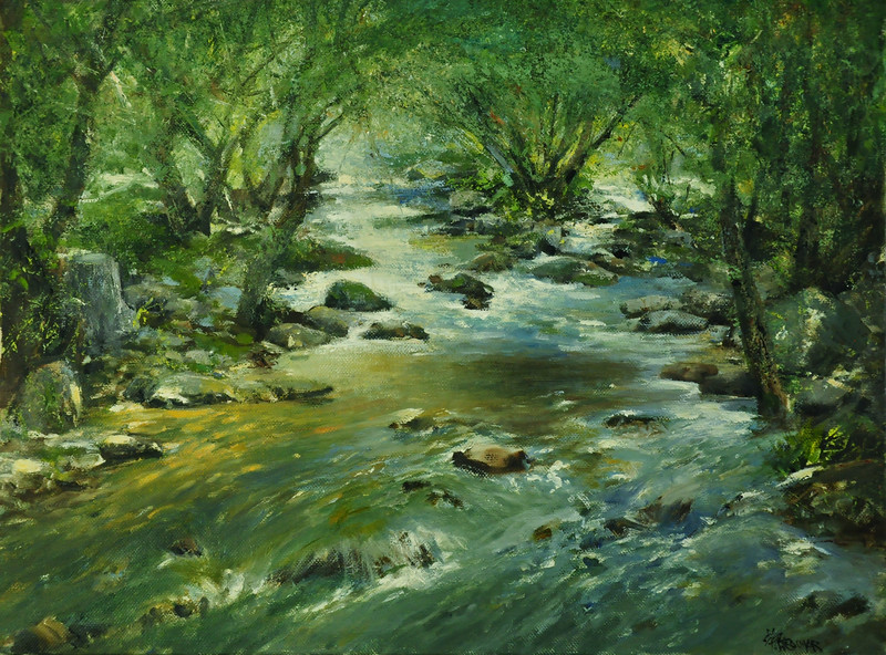 Whispering flow; Oil on Linen; 18X24