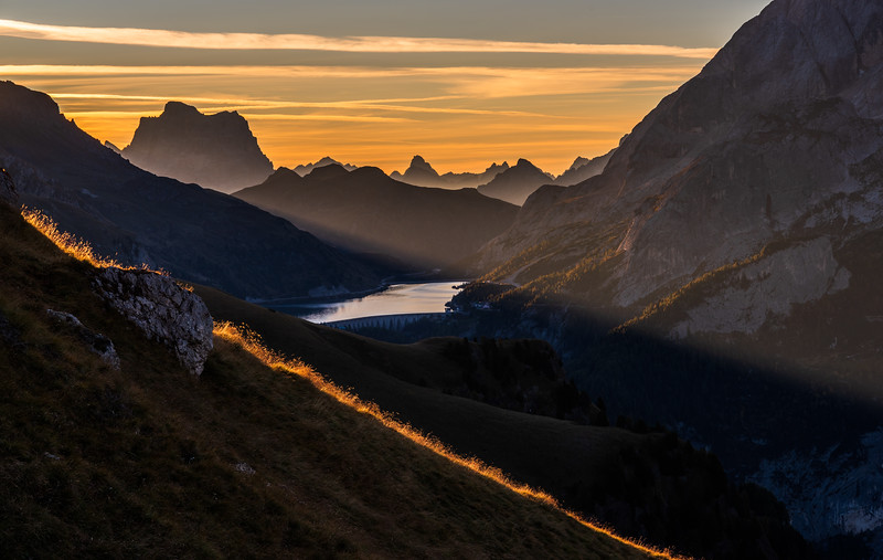 Morning at Passo Fedaia