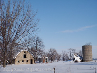 old barn, silo and farmstead no longer in use