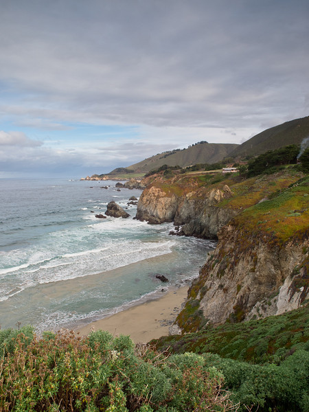 Different view of Big Sur beach.