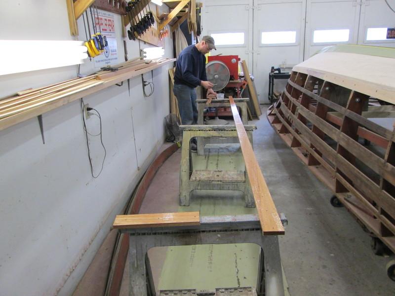 Applying epoxy to the keel cap.