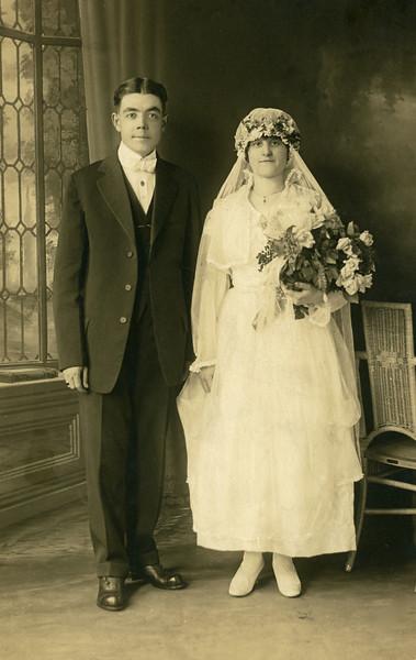 Circa 1919: Art Harwig Sr. and Sylvia Wedding portrait