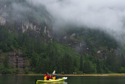 Paddling in Misty Fjord National WIlderness