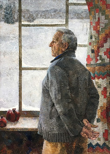 """Winter"" (oil on canvas) by Natasha Bakovic"